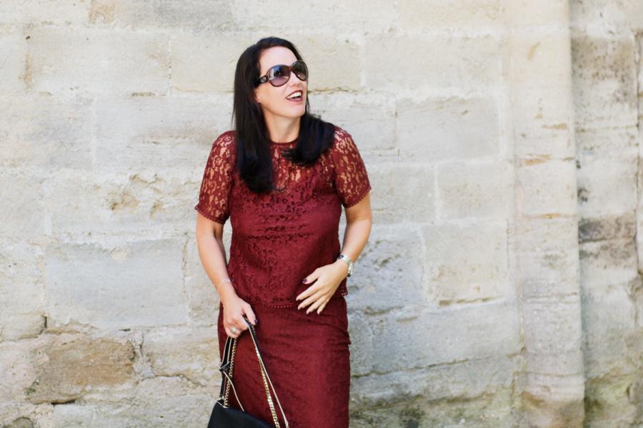 Bordeaux und Spitze – 2 Herbsttrends auf die ich nicht verzichte