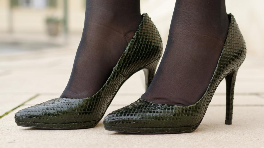 Grün, grün … meine grünen High Heels